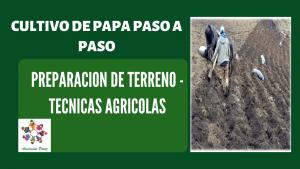 Preparación de terreno en el cultivo de papa – UC 2 – E 1