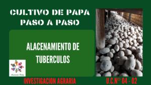 Almacenamiento de tubérculos– UC 4 – E 2
