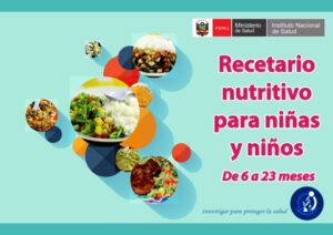 Recetario nutritivo para niñas y niños de 6 a 23 meses