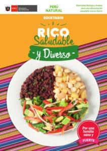 Recetario: Diversidad Biológica Andina  para una alimentación  saludable rica en hierro